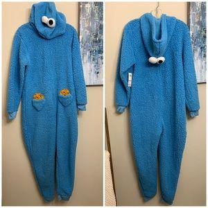 Cookie Monster adult onesie